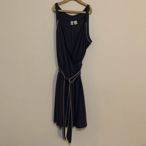 💫 DKNY Gray Belted Wrap Dress